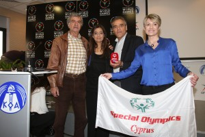 Mr. Andreas Stylianou (former Football player), Mr. Savvas Koshiaris ( journalist), Mrs. Antigoni Tampa (Cyprus sport organization officer)