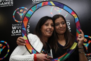 Dr. Eleni Rossides (special Olymics National Director) and Dr. Clea Hadjistefanou (Chairwoman Cyprus Sports Organization)