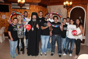 Bishop of mesaorias, Mr. Grigorios with Special Olympics Cyprus Delegation